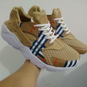 Sale Burberry x Nike Air Huarache 1 Men Women Mesh Hurache Sport Running Shoes Casual Shoes Sneakers