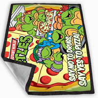 TMNT ninja turtle say yes to pizza Blanket for Kids Blanket, Fleece Blanket Cute and Awesome Blanket for your bedding, Blanket fleece *