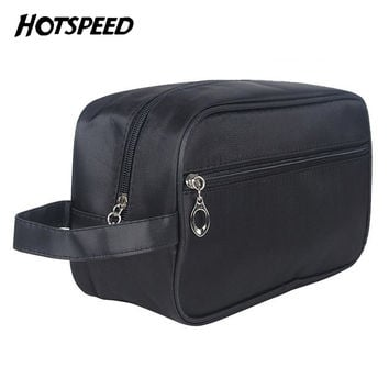 d85348043395 Fashion Trendy Business Men Toiletry Bag Black Travel Organizer Cosmetic  Bag necessaries