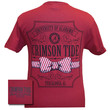 Alabama Crimson Tide Southern Class Bow Prep Red Girlie Bright T Shirt