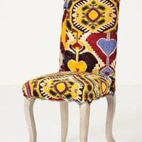 Velvet Ikat Clarissa Dining Chair - Anthropologie.com