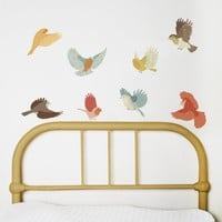 $40.00 Wall Decals Birds Reusable and removable fabric by lovemaestore