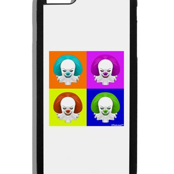 Clown Face Pop Art Black Dauphin iPhone 6 Plus Cover by TooLoud