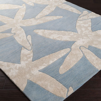 Escape Area Rug | Gray Coastal Rugs Hand Tufted | Style ESP3017