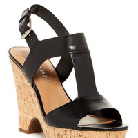 Gitana Leather Wedge Sandal