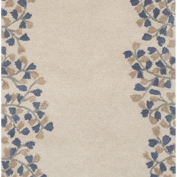 Surya Athena ATH5117 Brown/Blue Solids and Borders Area Rug