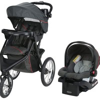 Graco Baby Trax Jogger Travel System Jogging Stroller w Infant Car Seat Evanston