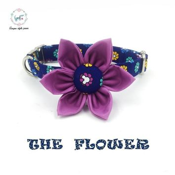 The Flower Isla Rivera Dog Collar and Leash Set
