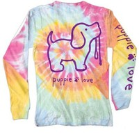 Puppie Love Tye Dye Long sleeve