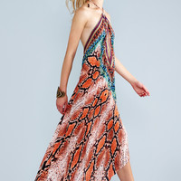 Parides Silk Print Maxi Dress | Luxury Resort Wear