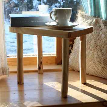 Wooden Bench - Wooden Stool - Wood Furniture - Small Side Table - Home gifts - Wood Small Bench - Housewarming Gift - Wooden small stool