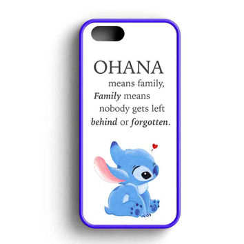Stitch Disney Ohana Means Family iPhone 5 Case iPhone 5s Case iPhone 5c Case