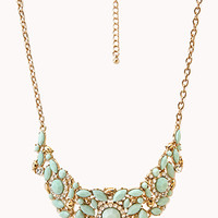 Heirloom Faux Stone Bib Necklace