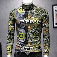 Versace New fashion human head print long sleeve top shirt Men