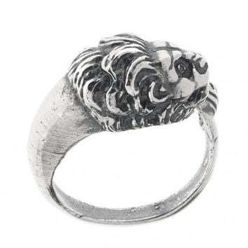 Lion's Head ~ Sterling Silver Wrap Ring - Large