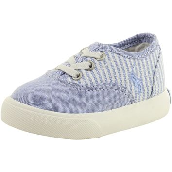 Polo Ralph Lauren Toddler Boy's Vali Gore Lt Blue/Lt Blue Stripe Sneakers Shoes