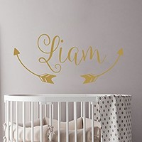 Arrow Wall Decal Name Wall Decal Vinyl Decal Boys Name Arrow Tribal Wall Decal Trendy Adventure...