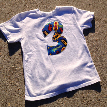 Superhero birthday Shirt or body suit, comic birthday