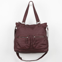 Under One Sky Faux Leather Satchel Burgundy One Size For Women 22681632001
