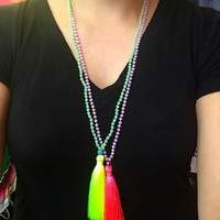 Boho beaded necklace from PeaceLove&Jewels