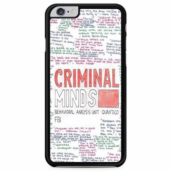 Criminal Minds iPhone 6 Plus/ 6S Plus Case