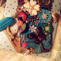 NEW Luxury Vintage Retro Butterflies and Flowers Forest  Case Cover For iPhone 4 iPhone 4S  iPhone 5 Screen Protect