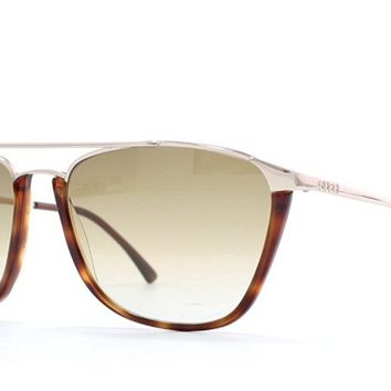 Gucci 1308 02N Brown and Silver Authentic Men - Women Vintage Sunglasses