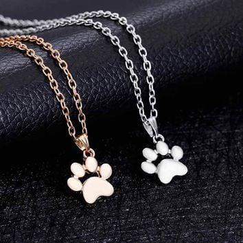 Cute Dogs Footprint Chain Necklace