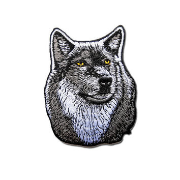 Wolf Patch / Dog Patch - Wolf Embroidered Iron on Patch / Wolf Patch /Dog Patch