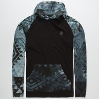 Lira Aztec Dye Mens Lightweight Hoodie Black  In Sizes