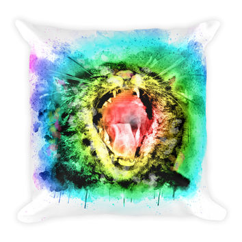 Cat Kitty Funny Decorative Throw Pillow 18x18