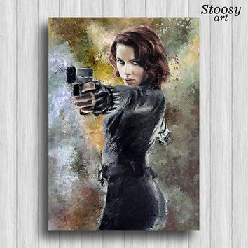 Black Widow poster avengers wall art marvel agents of shield