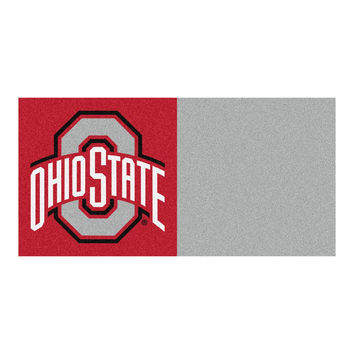 Ohio State Buckeyes NCAA Team Logo Carpet Tiles