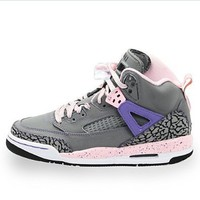 Kids Nike Jordan Spizike 535712 028 Cool Grey Liquid Pink Purple Basketball