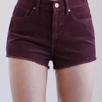 Kendall and Kylie Berry Curduroy High Rise Cutoff Shorts at PacSun.com