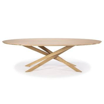 Ethnicraft Oval Oak Mikado Dining Table