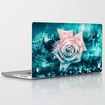 "Laptop Skin for MacBook Air/ Pro/ Retina 11"" 13"" 15"" 17"" and PC Laptops 13"" 15"" 17""  Queen Rose"