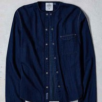 Cheap Monday Erase Collar Denim Button-Down Shirt