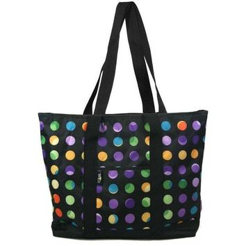 Nurse Tote Bag Polka Dot Print Zipper Closure Think Medical 94565