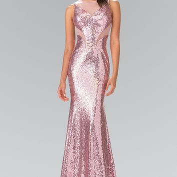 sequins evening gown dress #GL2292