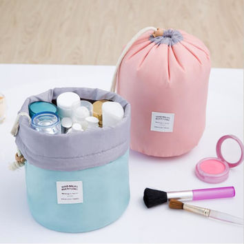 New High Capacity Waterproof drawstring cosmetic case make up pouch wash Makeup bag organizer holder Women Travel Accessories