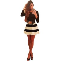 Bessky(TM) 2015 Lady Bandage Bodycon Long Sleeve Evening Sexy Party Mini Dress