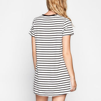 FULL TILT Striped T-Shirt Dress 247565125 | Short Dresses