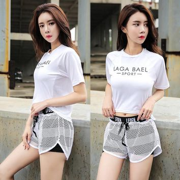 Women's Small Fast Drying Mesh In Racing Sports Yoga Fitness Gym Shirt Short Sleeve Tops Breathing In Sports