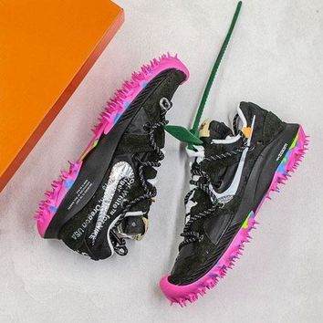 DCCK OFF WHITE x Nike Zoom Terra Kiger 5 'Black/Peach' Sport Shoes