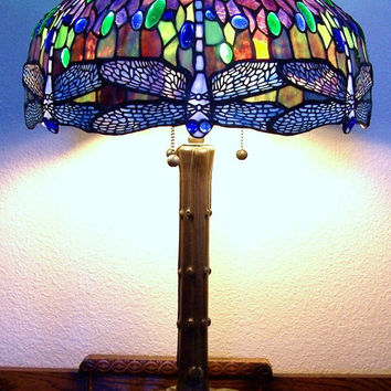 Vintage Tiffany Dragonfly Lamp