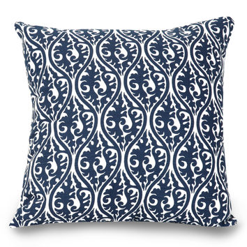 Navy Blue Helix Large Pillow