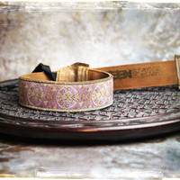 NEW - Pink and Tan Leather and Suede Camera Strap