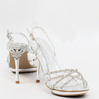 Bridesmaid Shoes, Silver Heels, dressy sandals, Glitter Pumps, Silvershoe-500-30