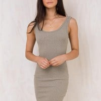 Minkpink Grace Textured Rib Tank Dress